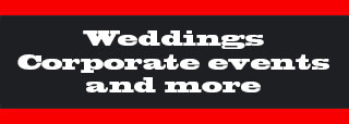 hire Tim for weddings corporate events and more